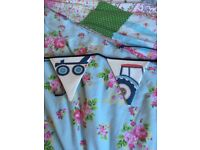 Laura Ashley tractors and trucks curtains, cushions and bunting