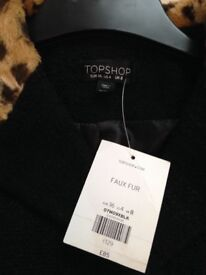Topshop coat new with tags size 8