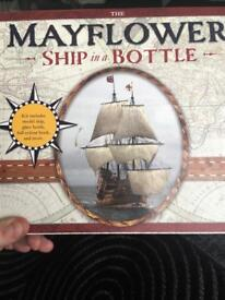 The Mayflower Ship in a Bottle kit