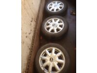 mini one alloy wheels 15 inch 3 only