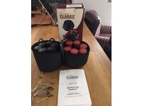12 Heated Rollers, Clips and instruction booklet