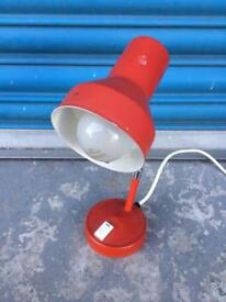 Small retro vintage industrial red desk lamp metal perfect for office cafe home art gallery SDHC