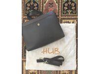 New: Men's genuine leather laptop shoulder bag briefcase