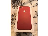 iPhone 7 128gb limited ed red on EE