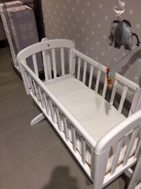 John Lewis Swinging Crib - Brand new, as duplicate bought as gift. From smoke free, pet free home.