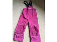 Hello Hansen ski trousers or salopettes - child age 4-6