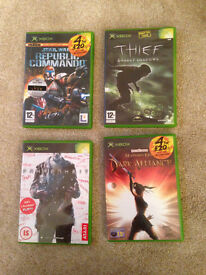4 games for XBOX - with manuals - very good condition - Didsbury area