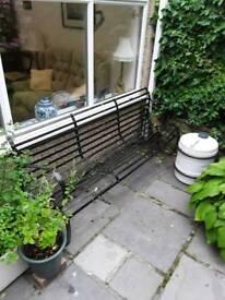 Antique cast iron park bench