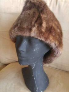 NEW CUSTOM-Made Super Warm Mens Real Fur Hat COSSACK Style Sheared Beaver  XS S M L XL shipped