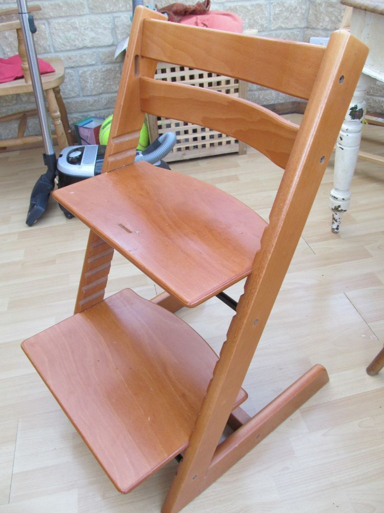 Stokke high chair cherry - Stokke Tripp Trapp High Chair Cherry Wood