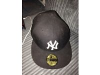 Men's official black new era NY cap