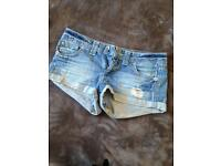 Denim shorts, size 10
