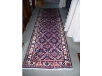 Rug Runner-100% Wool- Immaculate- 286 cms long x 92 cms wide approx