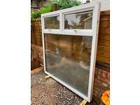 Large white uPVC window, used, W1614mm, H1670mm