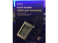 Touch screen digital golf scorecard