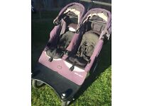 Double jogger pushchair