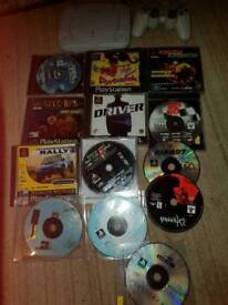 Sony ps1 games console bundle