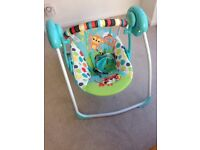 Portable baby swing + baby bouncer