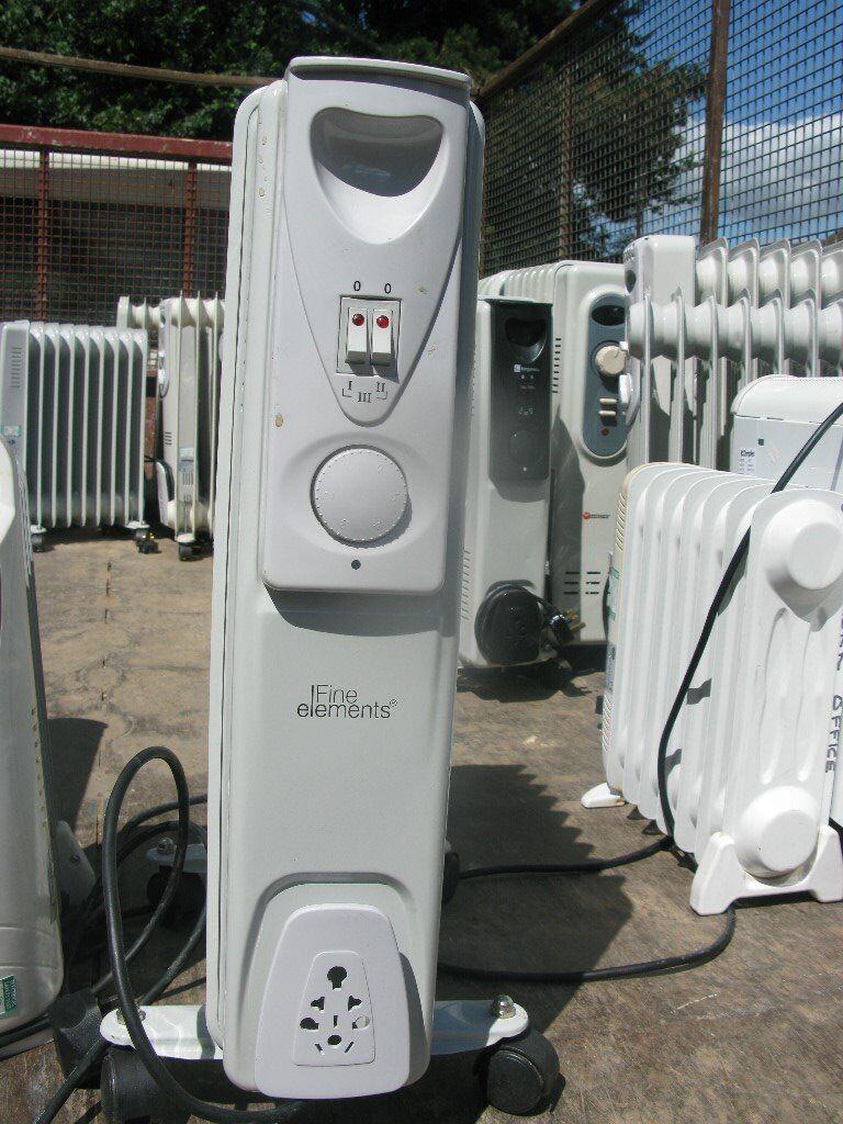 Portable oil filled radiators
