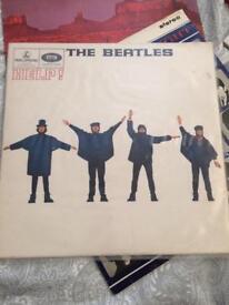 The Beatles vinyl : a hard days night, help & the white album