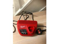 Milwaukee Genuine C12C 12V Li-Ion RED LITHIUM Battery Charger
