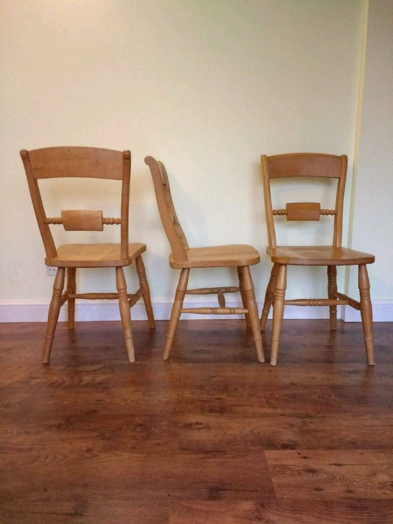 SSTC Pine Dining Chairs - Heavy, Solid, Sturdy