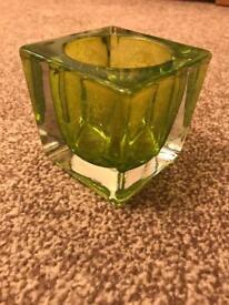 Green tea light holder