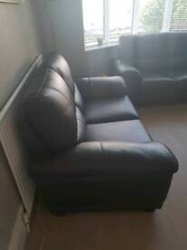 2 x Two Seater Harveys Dark brown leather sofas EXCELLENT CONDITION
