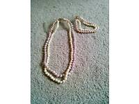 Pearl Design Necklace and Braclet set with Antique design Clasp. £5.00.