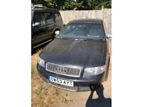 Audi s4 4.2 V8 B6 shape for sale for spares or repairs. No road tax no MOT. Faulty clutch