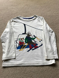 Boden unisex long sleeve cotton top age 4-5 (hardly worn)