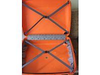 2 x skylite Orange suitcases