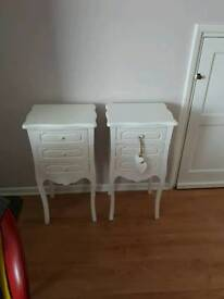 X2 bedside tables VGC