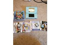 Blue ds lite and games