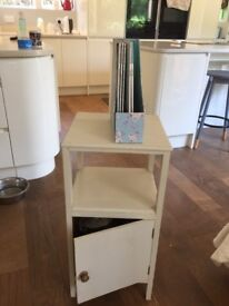 Shabby Chic white wooden cupboard