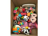 Box of kiddies toys