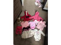 6-9/6-12 months girls clothes bundle