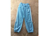 Girls light blue adidas track suit trousers 7-8 yrs