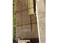 Quality decking and fencing for sale to be uplifted by yourself if interested contact louisa ..... .