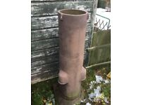MASSIVE LARGE VERY HEAVY ANTIQUE CHIMNEY POT PLANTER 5 FOOT HIGH -- CAN DELIVER LOCALLY --