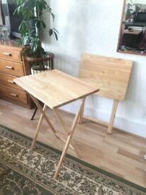 Fold away small side table x2 £5 each