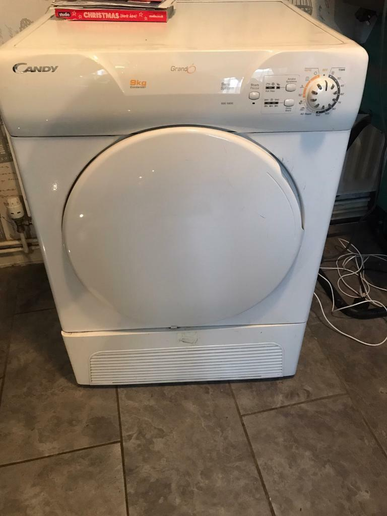White 8kg Candy Condenser Tumble Dryer Sparesrepairs In Chatham