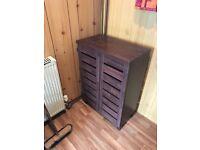 Wooden Shoe Dresser