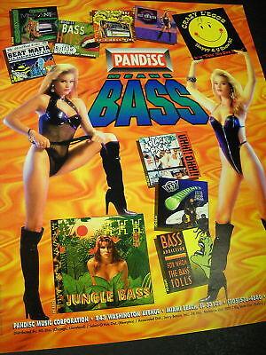 BASS 1995 promo ad BEAT MAFIA Jungle Bass CRAZY L'EGGS