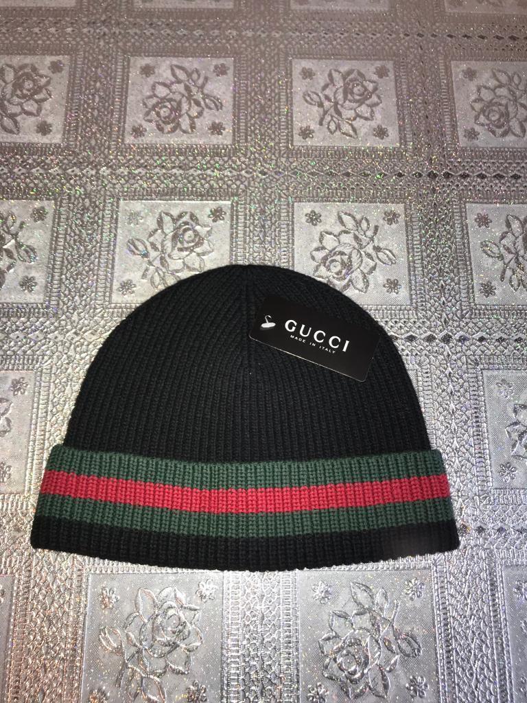 Gucci men s beanie hat  73b4d420791c