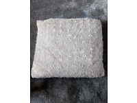 4 fluffy oatmeal cream colour fur cushions with inner cushion included