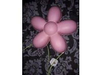 IKEA kids wall lamp, pink flower SMILA BLOMMA