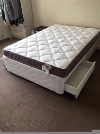 Silentnight Double Divan bed with Drawers & Quality Mattress by Airsprung. Free Delivery