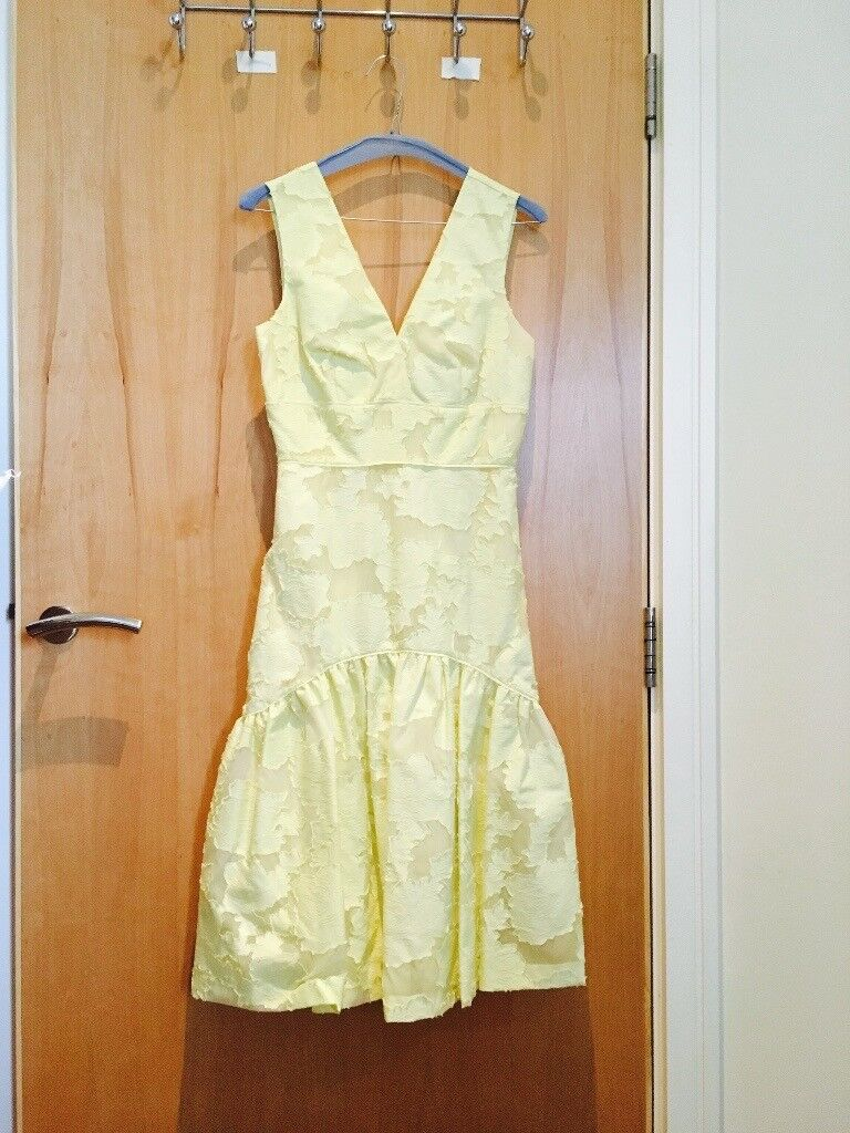NEW with tag Warehouse Yellow Prom Party Dress Beautiful Elegant UK Size 6 or 8 (EU Size 34) RRP £30