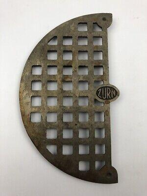 Zurn Brass 7.5 Half Round Floor Drain Strainer Grate Bronze 38147-1